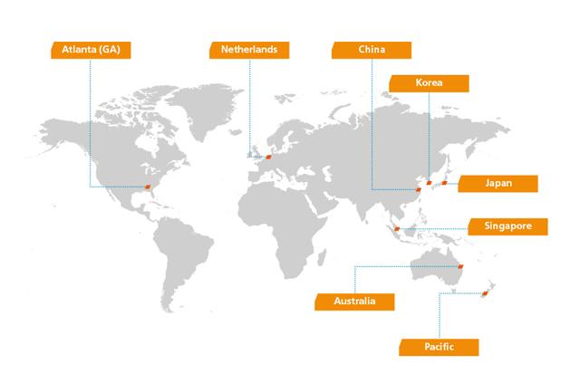locations worldwide